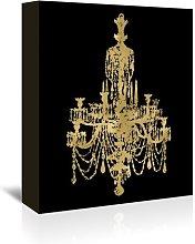 'Chandelier Gold on Black' by Amy Brinkman