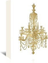 'Chandelier Gold on White' by Amy Brinkman