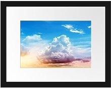 'Cloudy Sky Covering Sun' Framed
