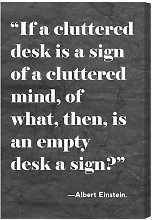 'Cluttered Desk' Typography on Wrapped