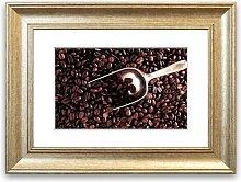 'Coffee Bean Scoop Cornwall' Framed