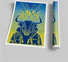 'Cool Bull' - Unframed Graphic Art Print