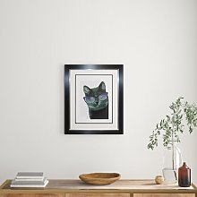 'Cool Cat' Framed Graphic Art Print East