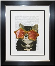 'Cool Kitten' Framed Graphic Art Print