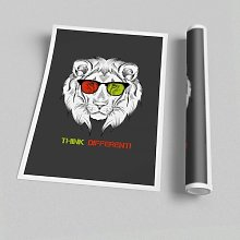 'Cool Lion Glasses' - Unframed Graphic Art
