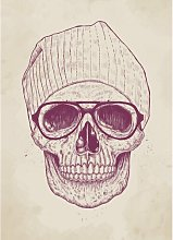'Cool Skull' Painting Print East Urban Home