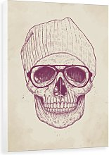 'Cool Skull' Painting Print on Canvas East