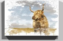 'Cow' Graphic Art Print Brambly Cottage