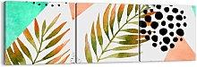 'Decoration with a Palm Leaf' - 3 Piece