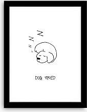 'Dog Tired' Framed Print, 43.5 x 33.5cm,