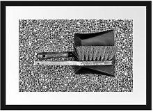 'Dustpan and Brush' Framed Poster East