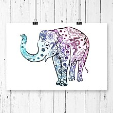 'Elephant' Painting Print Big Box Art