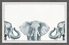 'Elephant Poses' Framed Art HoneyBee