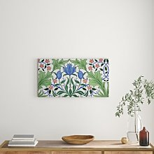 'Floral Wallpaper Design with Tulips' -