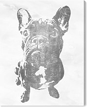 'Frenchie Silver' Print on Canvas East