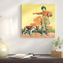 'Go Back!' - Wrapped Canvas Graphic Art