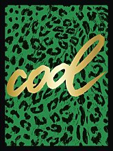 'Green Leo Cool' Framed Typography Print