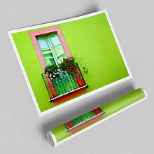 'Green Wall Window' - Unframed Photograph