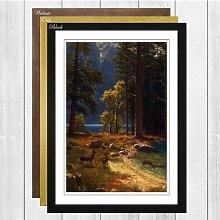 'Group of Deer beside a Lake' by Albert