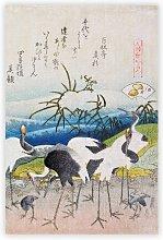 'Group of Storks' by Katsushika Hokusai -