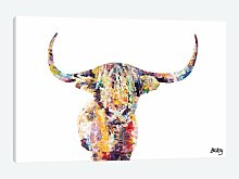 'Highland Cow' Graphic Art Print on Canvas