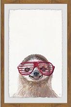 'Hippie Sloth' Paper Print HoneyBee Nursery