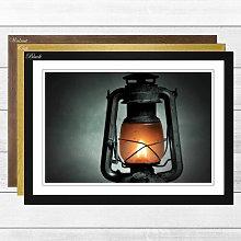 'Kerosene Lamp' Framed Photographic Print