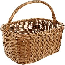 'Large Square Wicker Shopping Basket with
