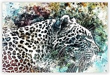 'Leopard' - Unframed Painting Print on
