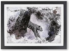 'Leopard Climbing from a Tree' - Picture
