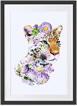 'Leopard Floral' Picture Frame Painting