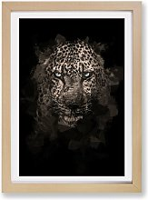 'Leopard in the Dark' - Picture Frame