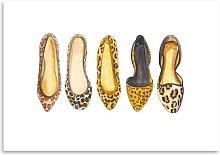 'Leopard Line Up' by Alison B Art Print