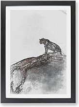 'Leopard Upon the Rock' - Picture Frame