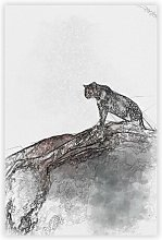 'Leopard Upon The Rock' - Unframed Graphic