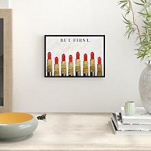 'Lipstick First' - Graphic Art Print East