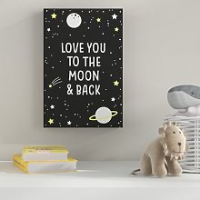 'Love You to the Moon' Print HoneyBee