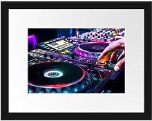 'Modern Illuminated DJ Desk' Framed