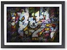 'Multi-coloured Wall Graffiti' - Picture