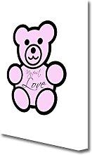 'My First Love Teddybear' Textual art