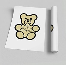 'Nursery Quote My First Teddybear' -