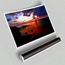 'Ocean Red Seascape' - Unframed Photograph