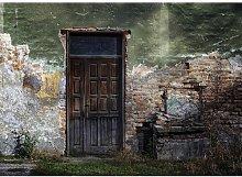'Old Door Brick Building' Painting Print