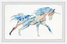 'Painted Unicorn' Framed Print HoneyBee