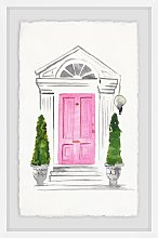 'Pink Door' - Picture Frame Painting Print