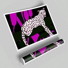 'Pink Leopard Spots' - Unframed Graphic