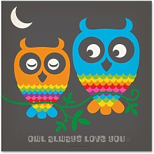 'Rainbow Owls' by Anderson Design Group -