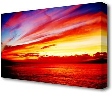 'Red Ocean Calm Sunset' Photographic Print