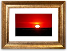 'Red Ocean Glory' Framed Photographic