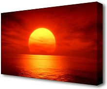 'Red Ocean Glow Sunset' Photographic Print